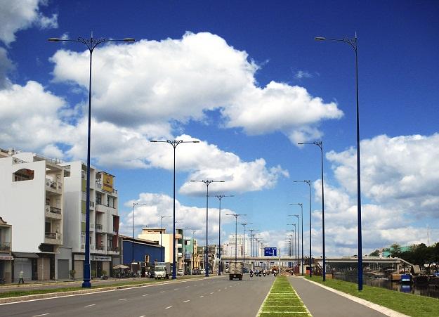 Chiếu sáng công cộng Đại lộ Đông Tây